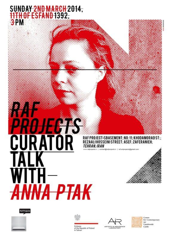 Curator Talk with Anna Ptak Curator Talk with Anna Ptak Poster